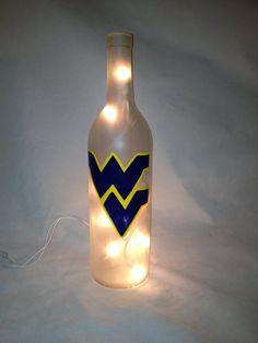 West Virginia History, West Virginia University, West Va, Bottom Of The Bottle, Sea Glass Crafts, Virginia Homes, Lighted Wine Bottles, Wine And Liquor, Wine Bottle Crafts