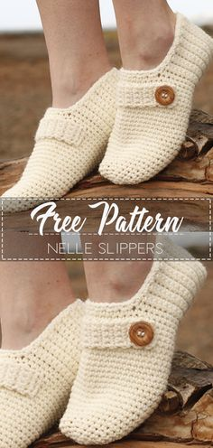 Nelle Slippers – Pattern Free – Easy Crochet
