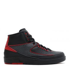 4d18ff2a0e7232 Air Jordan 2 Retro Alternate 87 Black Varsity Red 834274 001