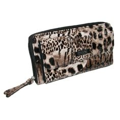 Kenneth Cole Reaction Exotic Leopard Zip Around Organizer Wallet $15.00