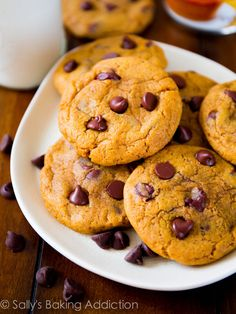 Perfectly Chewy Pumpkin Chocolate Chip Cookies