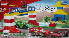 Техника для детей: Собираем Дисней тачки в конструктор Лего Дупло. Сегодня на нашем заводе - сборка гоночных машинок Молния Маккуин и Карло Велосо