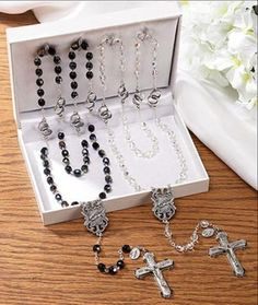 Handcrafted in Italy, this magnificent Wedding Rosary Gift Set comes elegantly displayed in a satin lined gift box.   #DCP #CatholicProducts #Rosary #WeddingGift Wedding Gifts For Bride And Groom, Diy Wedding Gifts, Wedding Groom, Our Wedding, Bride Groom, Dream Wedding, Diy Gifts, Wedding Lasso, Perfect Wedding