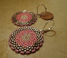 € 14,00! Orecchini realizzati a mano con rocaille e Delica Miyuki, pendenti con monachina : Orecchini di patrizia-bijoux