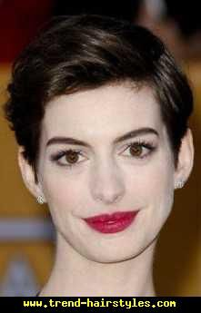 Anne Hathaway Short Hair - http://www.trend-hairstyles.com/short-hairstyles/anne-hathaway-short-hair.html