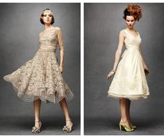 Sweet Violet Bride - http://sweetvioletbride.com/2012/06/show-toes-tea-length-wedding-dress/