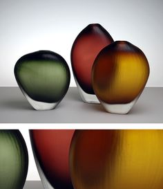 Aurora vases by Devin Burgess of DB Glassworks