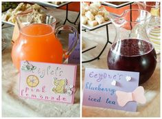 Beverages for Winnie the Pooh Baby Shower