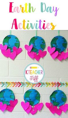 April crafts for kids 69526 - One Recycled Crafts Kids, Diy Crafts For Kids, Art For Kids, Recycled Art, Craft Ideas, Earth Craft, Earth Day Crafts, Earth Day Activities, Activities For Kids