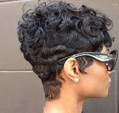 African American Hairstyles.. Short cut, curls, finger waves