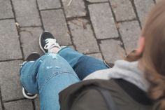 Pitsiniekka | Ripped Jeans with Nike Trainers Nike Trainers, What I Wore, Ripped Jeans, My Outfit, Pants, How To Wear, Outfits, Fashion, Tattered Jeans