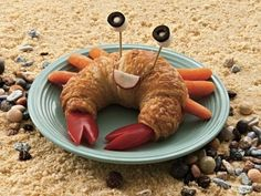 Fun Snacks for Kids - Croissant Crab