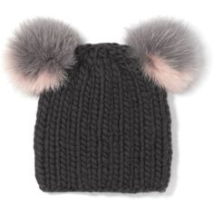 d5336a38b62 Eugenia Kim Mimi Beanie with Genuine Fox Fur Pompoms