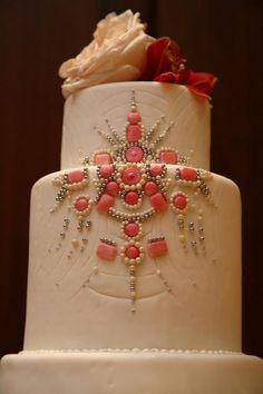 Wedding cake with gems