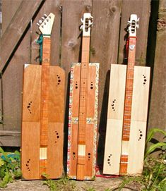 A Trio of Cigar Box Mountain Dulcimers