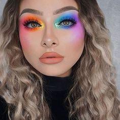Makeup Eye Looks, Eye Makeup Art, Cute Makeup, Pretty Makeup, Eyeshadow Makeup, Makeup Tips, Makeup Ideas, Bright Eyeshadow, Prom Makeup