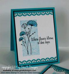 Glittered Flowers - stampTV