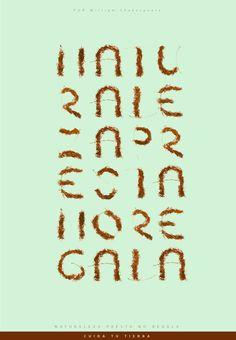 Typography spita by Gustav Rendon, via Behance