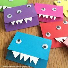 Monstereinladungen Für Den Kindergeburtstag / Www.loloundtheo.blogspot.de. Einladung  BastelnGeburtstagskarte ...