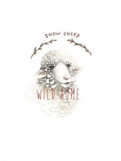 Snow sheep by WildhomeCrafts on Etsy
