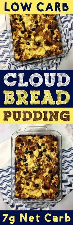 This is a low carb take on bread pudding the world's most comforting comfort food. This dessert has only net carb per slice. Sugar Free Sweets, Low Carb Sweets, Low Carb Desserts, Fun Desserts, Healthy Desserts, Diabetic Desserts, Healthy Bread Recipes, Best Dessert Recipes, Low Carb Recipes