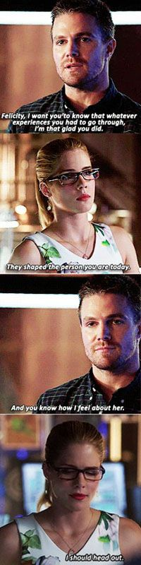 Arrow - Oliver & Felicity. Poor Felicity, I seriously can't handle how much her heart must be struggling!