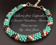 KUMIHIMO TUTORIAL PATTERN Ombre Love Knot Necklace in 3