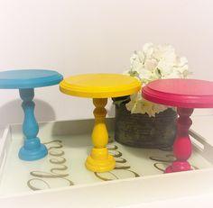 Mini cake stand,cupcake stand,smash cake,dessert stand by CocktailNConfettiCo on…