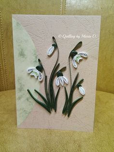 Quilling Work, Quilling Cards, Quilling Patterns, Quilling Designs, Quilling Ideas, Quilled Paper Art, Origami Paper, Flower Cards, Paper Flowers
