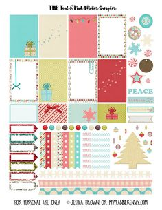FREE Teal & Pink Winter Sampler for The Happy Planner and the Erin Condren Life Planner I Myplannerenvy