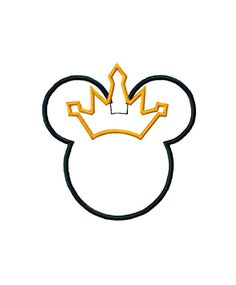 Disney inspired Princess Mouse digital machine embroidery design - several sizes applique