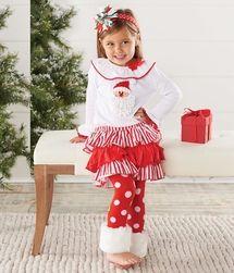 Mud Pie Santa Skirt Set -Mud Pie Clothes| www.LollipopMoon.com only $49.50 - Fall 2013 Preview