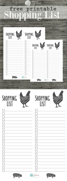Printable Grocery Store List from Thirty Handmade Days Source by - printable shopping list