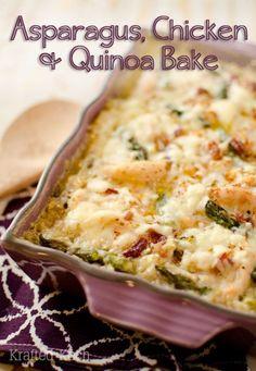 Light Asparagus, Chicken & Quinoa Bake ~ Page 2 of 2 ~ Krafted Koch