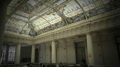 Vitral en el techo. Estación de Desamparados, Centro de Lima