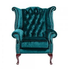 Turquoise Kingfisher | Boutique Kingfisher Turquoise Chesterfield Armchair