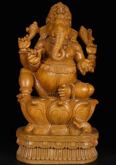 View the SOLD Relaxed Seated Ganesh Statue 23