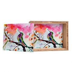 Ginette Fine Art Hummingbird In Spring Storage Box | DENY Designs Home Accessories