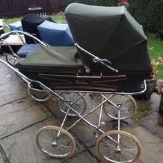 silvercross lovley vintage pram nice crome in green Vintage Pram, Vintage 70s, Pram Stroller, Baby Strollers, Silver Cross Prams, Used Stuff For Sale, Baby Things, United Kingdom, Memories