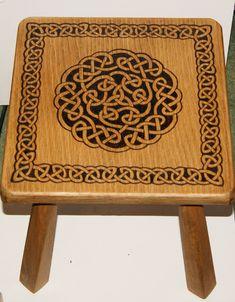 Celtic Knot Stool by llinosevans.deviantart.com on @deviantART