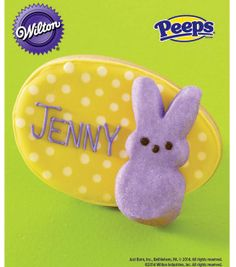 PEEPS Marshmallow Bunny Cookie Place Card from @Wilton Cake Decorating Cake Decorating