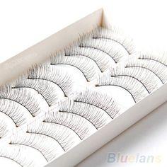 10 쌍 소프트 자연 크로스 수제 눈 속눈썹 메이크업 확장 속눈썹