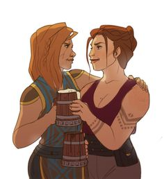 baewall: My Oda buying WardenAeduan's Siba Cadash an ale. Cause what better way to make up after they've just kicked the shit out of each other?