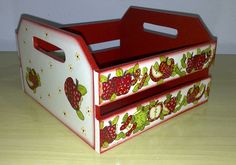 Decoupage, Wood Boxes, My Works, Toy Chest, Crates, Stencils, Decorative Boxes, Storage, Orlando