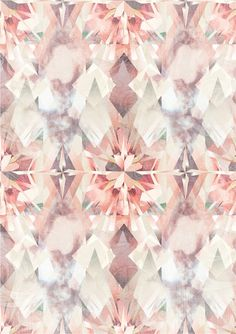 Fractured crystal mirror print - peachy surface pattern design This pattern in resin filled bezels would look great. Surface Pattern, Pattern Art, Pattern Design, Surface Design, Motifs Textiles, Textile Patterns, Illustration, Pretty Patterns, Grafik Design