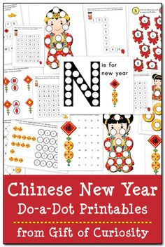 Chinese New Year Do-a-Dot Printables - Gift of Curiosity