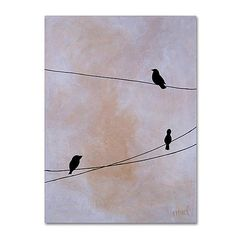 Purchase Nicole Dietz 'Bird on Wire White' Canvas Wall Art 35 x 47 Inches from Destination Home on OpenSky. Share and compare all Home. White Canvas Art, Canvas Wall Art, Canvas Prints, Diy Canvas, Animal Fashion, Wire Art, Artist Canvas, Art Reproductions, Abstract Landscape