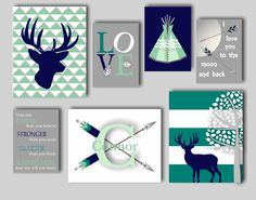Baby Boy Nursery Art Deer Nursery Bedding Decor Deer Art Boys Room Woodland Nursery Art Arrow Nursery Tribal Nursery Choose Colors AR1803 by inkspotsgallery on Etsy https://www.etsy.com/listing/224545192/baby-boy-nursery-art-deer-nursery