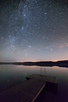 Night falls over the water | Latryx #stars #starry #sky