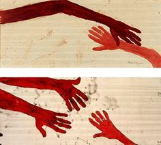 Remember, we all stumble, every one of us.  That's why it's a comfort to go hand in hand. • Emily Kimbrough.  Art by Louise Bourgeois